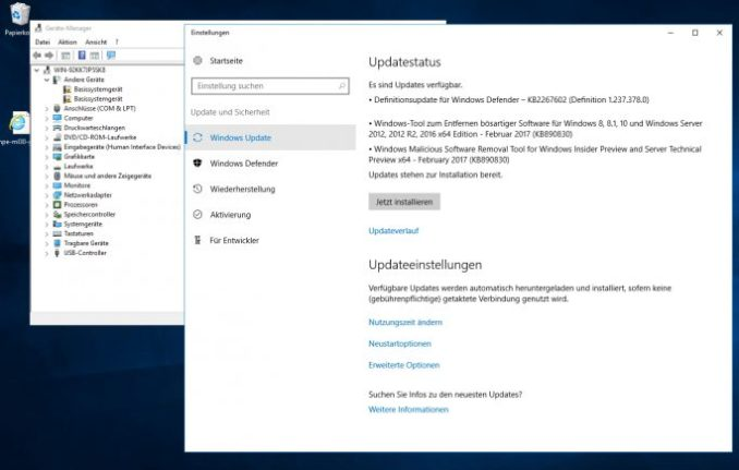 after installing Windows Server 2016 the current drivers and Windows updates must be installed on the server (screenshot: Thomas Joos).