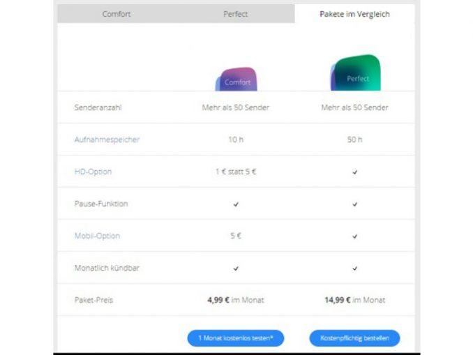 waipu.tv price models (fig. Exaring)