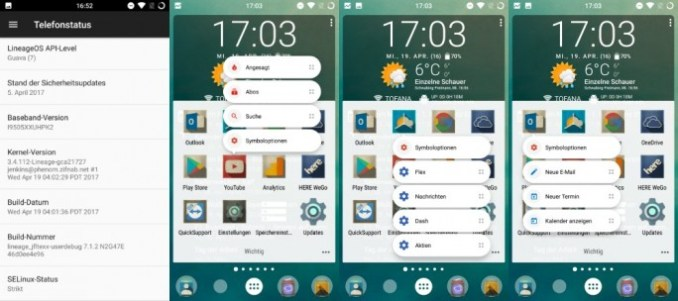 LineageOS: the latest update integrates the current security patches (screenshot: ZDNet.de)