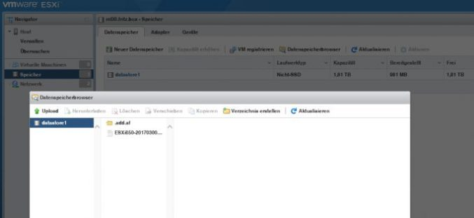 updates for vSphere 6.5 can download in the new Web client on the host (screenshot: Thomas Joos).