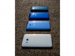 HTC U 11 in ice white, amazing silver, sapphire blue and brilliant black (image: HTC).