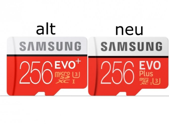 Samsung: old EVO +-series and new EVO plus series (image: ZDNet.de)