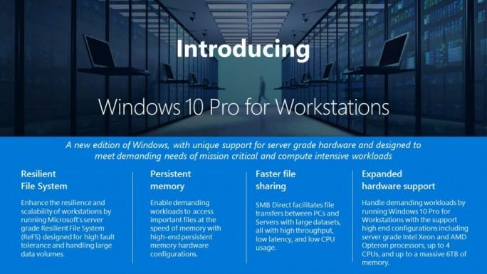 Windows 10 Pro for Workstation (Bild: Microsoft)