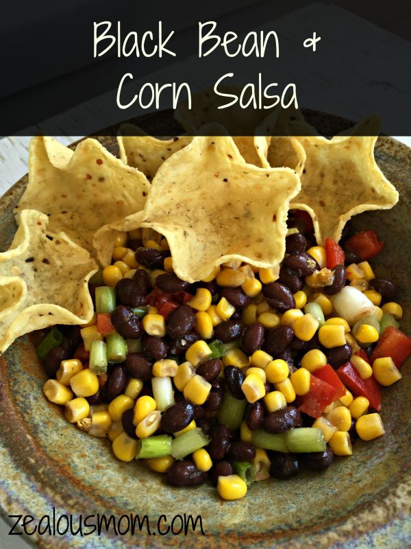 Enjoy this delicious black bean and corn salsa. It'll be a hit with everyone in the family. @zealousmom.com