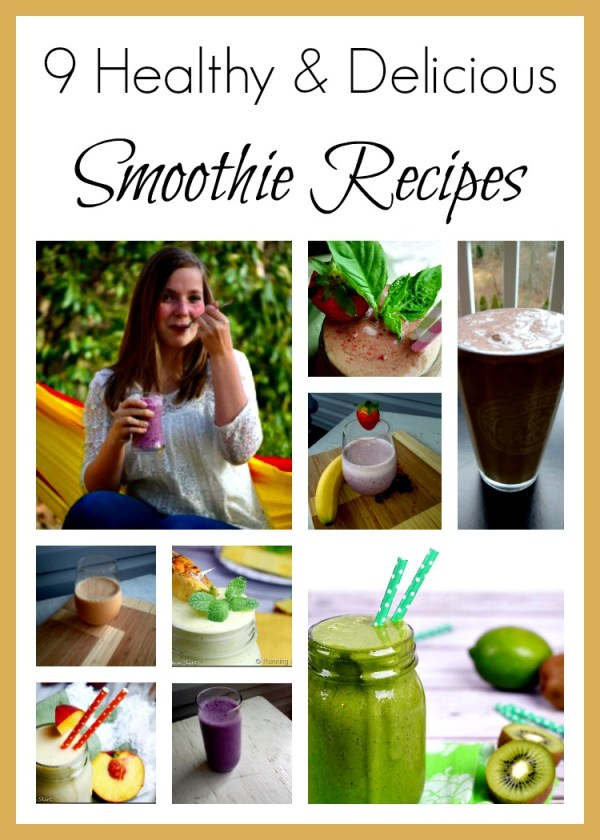 A blogger roundup of 9 healthy and delicious smoothie recipes. Enjoy! @zealousmom.com
