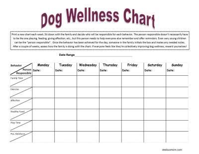 Dog Wellness Chart