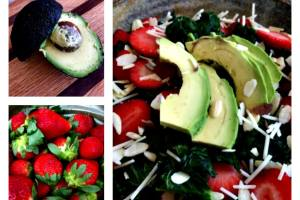 Sautéed Kale Salad with Strawberries and Avocado