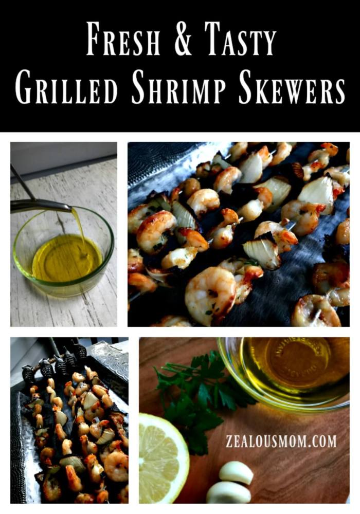 Are you ready for summertime? Enjoy some outdoor grilling with these fresh and tasty grilled shrimp skewers! @zealousmom.com