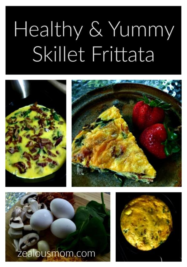Healthy & Easy Skillet Frittata. Everyone in the family will enjoy! @zealousmom.com