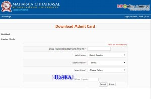 MCBU Admit Card 2020 download @mcbu.mponline.gov.in website