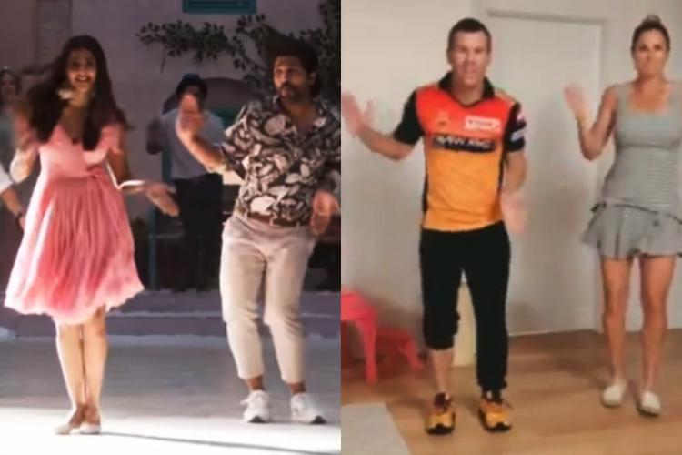 David Warner Candice Warner dance on butta bomma song