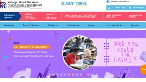 NIOS 12th Class Admit Card 2020 released later due to lockdown