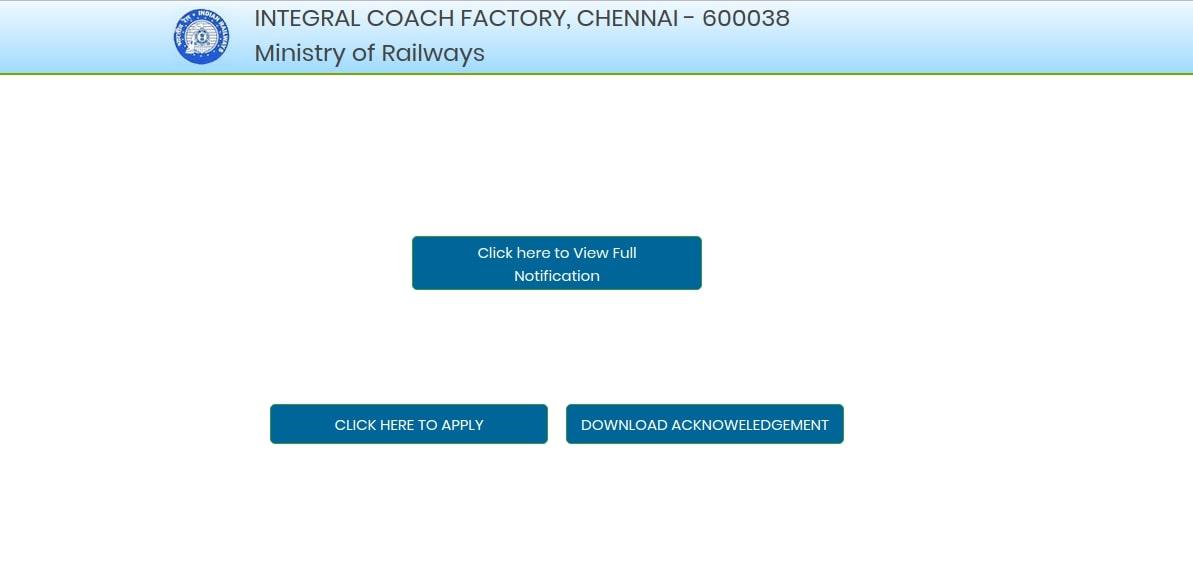 ICF Chennai Recruitment 2020