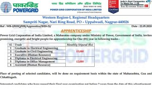 PGCIL Apprentice Recruitment