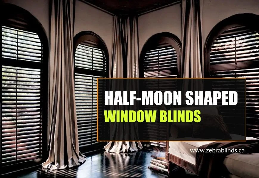 half moon shaped window coverings for