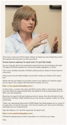 Mary Burke equal pay email