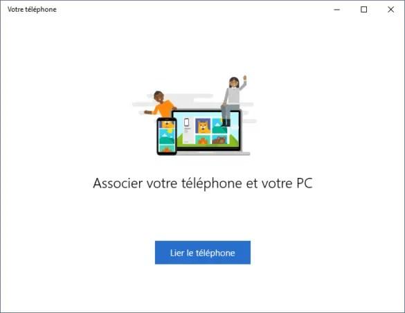 Lier le téléphone au PC