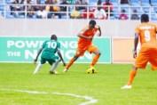 Jackson Mwanza against Mufulira Wanderers