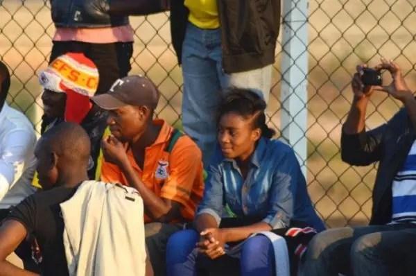 Female fans in Zambia super league