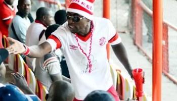 A Nkana Supporter AT NKANA stadium