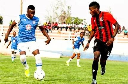 Kabwe Warriros striker during Barclays cup 2016