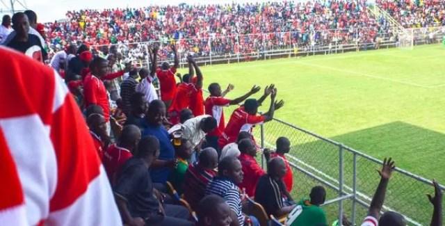 Fans in the Zambia super league