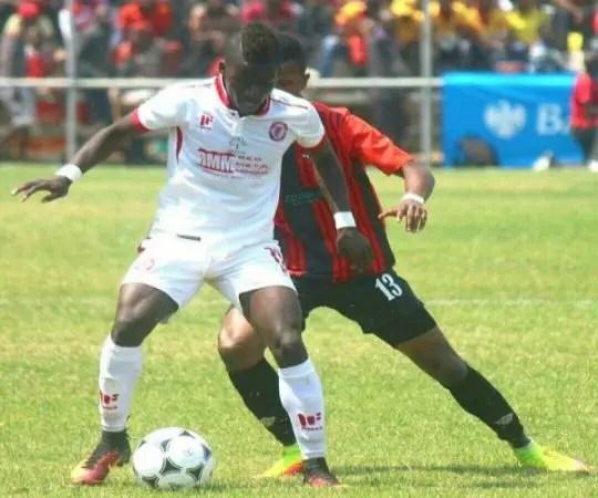 Nkana's Diego Apanene against Zanaco