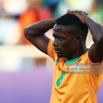 Harrison Chisala reacts after Zambia lose to Costa Rica