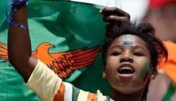 female fan in the Zambian