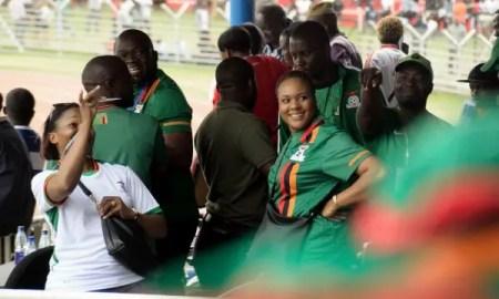 Female fans in the Zambian football league