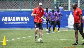 Sven capture during a training session with Chipolopolo