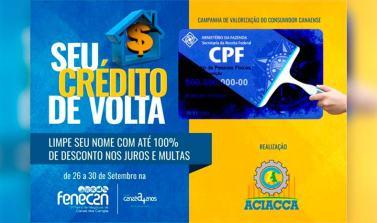 """Empresas de Canaã aderem à campanha """"Limpe seu nome"""""""