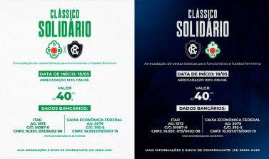 Clube do Remo e Tuna Luso vão realizar clássico solidário para arrecadar cestas básicas