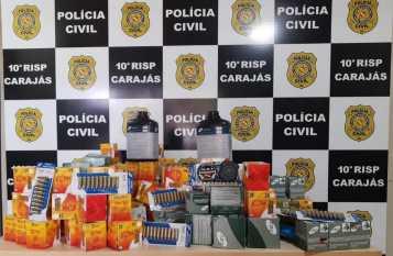 Marabá: PRF e Polícia Civil apreendem quase 12 mil munições que vinham do Maranhão