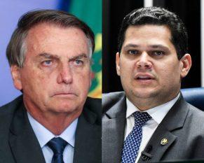 Bolsonaro diz que Alcolumbre age fora da Constituição ao não marcar sabatina de indicado ao STF