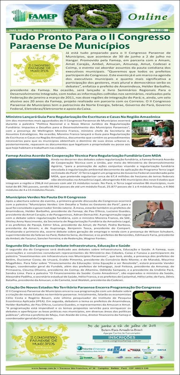 FAMEP Online (27 de junho a 03 de julho)