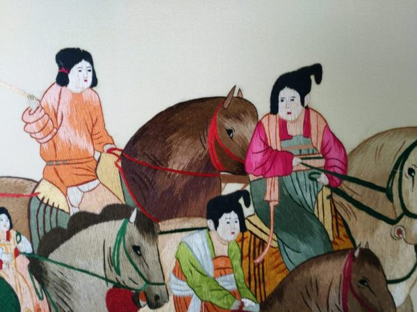 The Painting of Lady of Guoguo Spring Outing