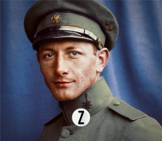 Ingekleurde foto van Sergeant-vlieger O.H.F. de Greef