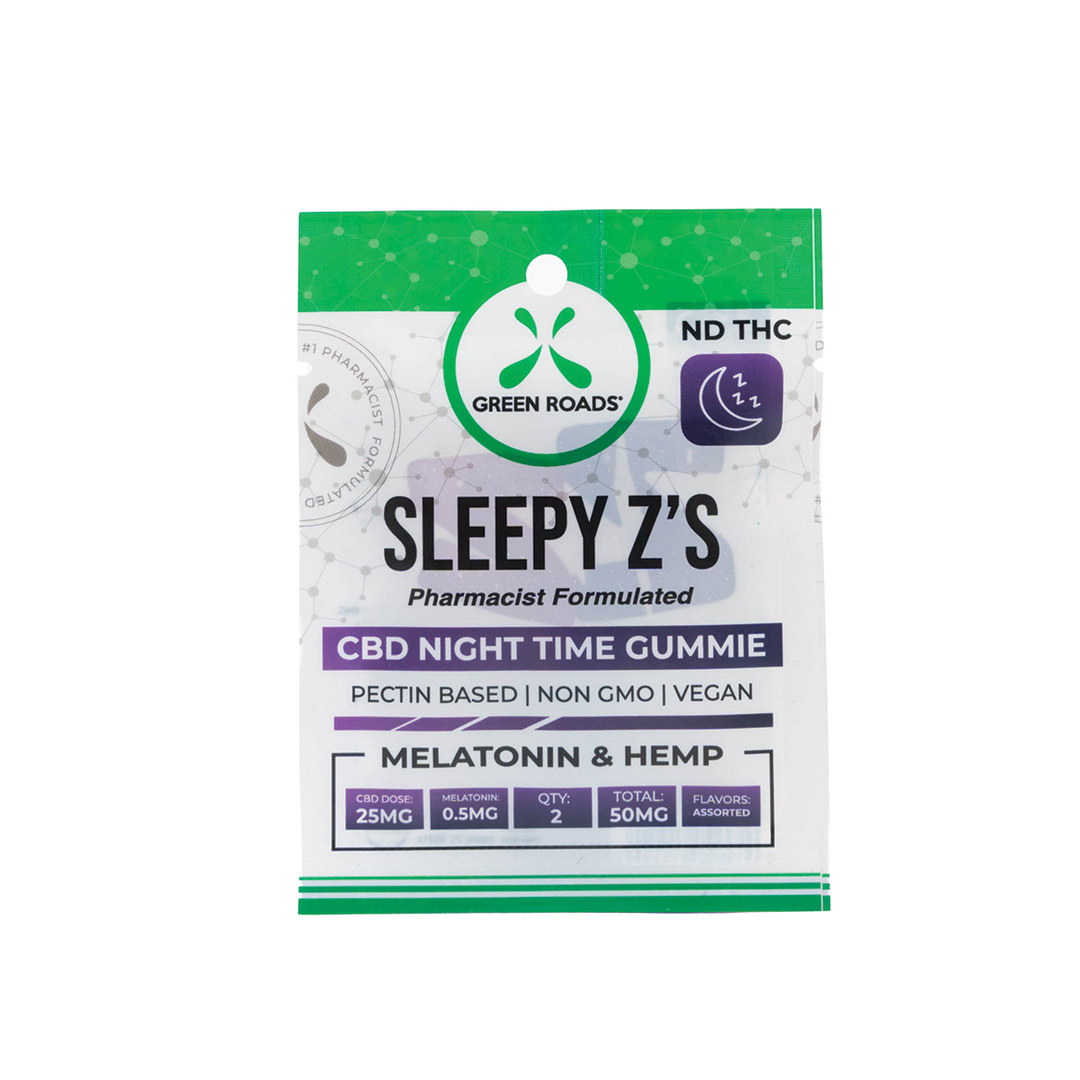 GREEN ROADS SLEEPY Z'S CBD NIGHT TIME GUMMY