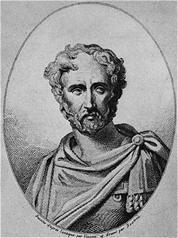 פליניוס הזקן בציור מן המאה ה-19