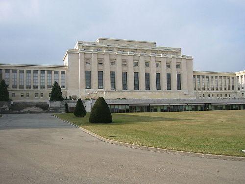 """ארמון האומות בז'נבה  ששימש מטה ל""""חבר הלאומי,. היום הוא משמש את האו""""ם."""