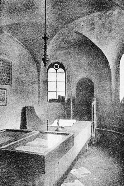 תמונת בית מדרש על שם רשי בוורמיזא, המאה ה-19