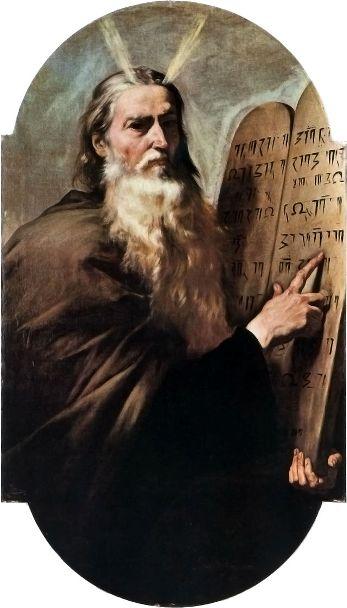 משה ולוחות הברית ציור של גוזה דה ריברה