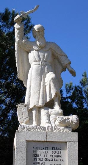 פסל אליהו הנביא בקרן הכרמל,  צילום תמר הירדני ויקיפדיה .