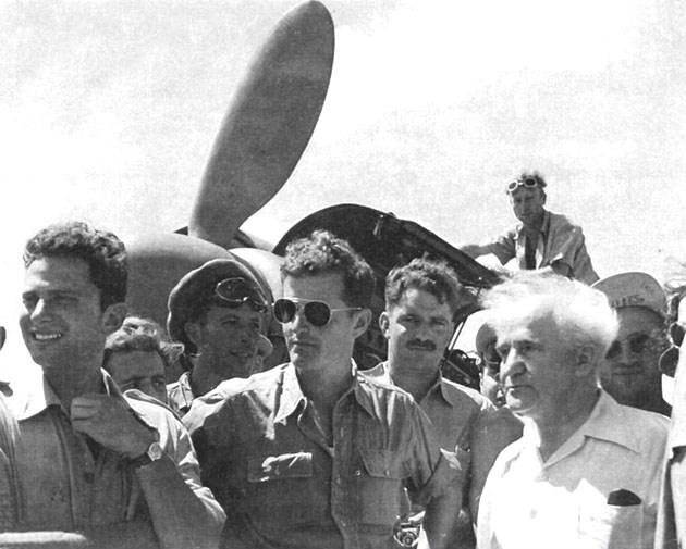 דוד בן גוריון וטייסת הקרב הראשונה של צהל ב-1948