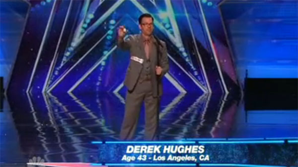 Derek Hughes 'Magician' Performs Card Trick on America's ...