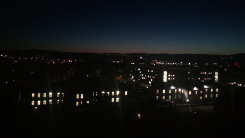 Der Morgenstern über der Festung Ehrenbreitstein
