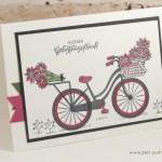Geburstagsstrauss per Fahrrad