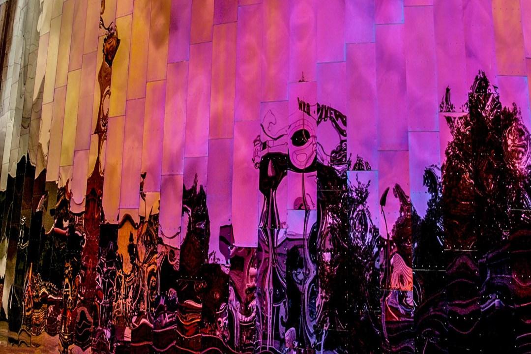 Spiegelung Guggenheim Museum in Bilbao