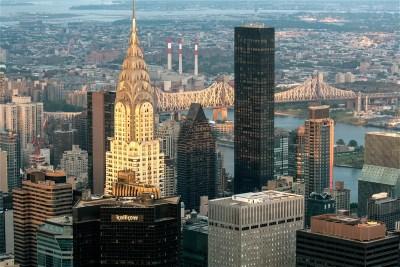 """Tommy Pützstück, vom Empire State Building auf  """"Chrysler Building"""